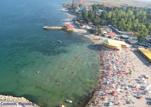 Black Sea coastline romanian beaches Costinesti Constanta beach