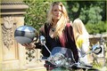 Blake and Penn hop onto a Vespa together to film a scene for Gossip Girl in NYC