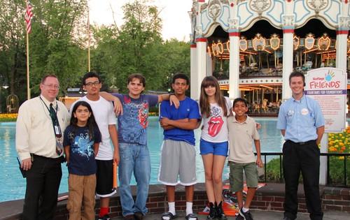 Blanket, Prince, Prince's cousin James, Paris, Paris's cousin Royal Jackson at Six Flags 28/8/12