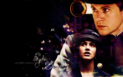 Lady Sybil Crawley wallpaper entitled Branson & Sybil