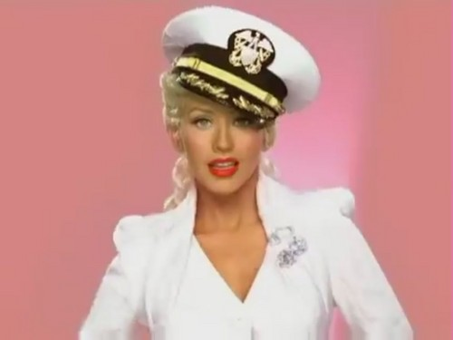 Christina Aguilera wallpaper probably with a blouse, a well dressed person, and a bathrobe titled Candyman [Music Video]