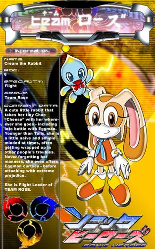 CaptRicoSakara's Cream the rabbit info