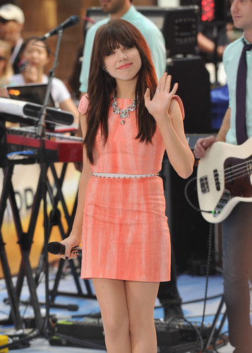 """Carly Rae Jepsen performs on NBC's """"Today"""" NYC, 23 August 2012"""