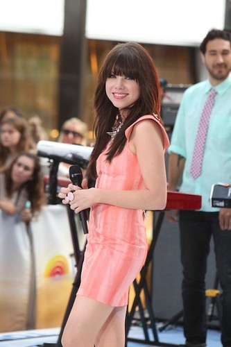 "Carly Rae Jepsen performs on NBC's ""Today"" NYC, 23 August 2012"