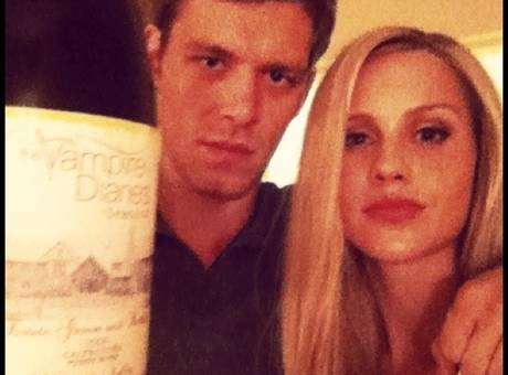 Claire Holt and Joseph морган