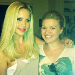Claire Holt and Kelly Clarkson