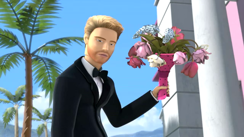 Barbie: Life in the Dreamhouse achtergrond possibly with a business suit and a bouquet entitled Closet Princess