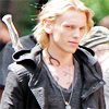 Jamie Campbell Bower photo with a portrait entitled CoB movie set