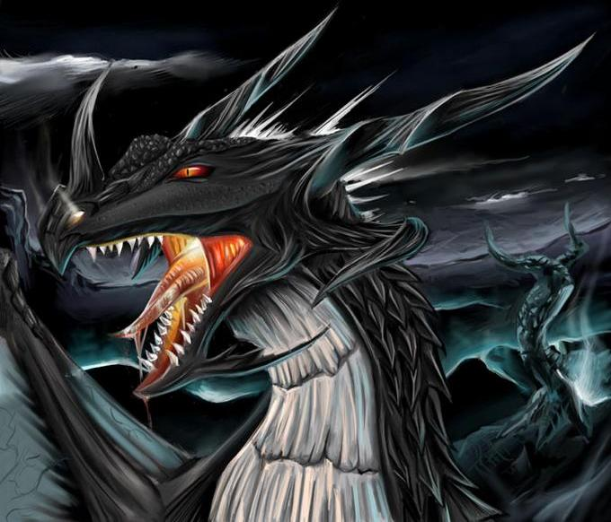 Griffins and Dragons images Dark dragon wallpaper ...
