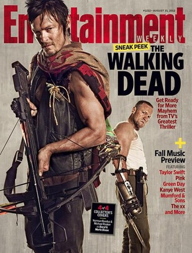 Daryl and Merle Dixon-EW Magazine cover