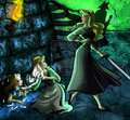 Disney Princess Threatened 4 - disney-princess fan art