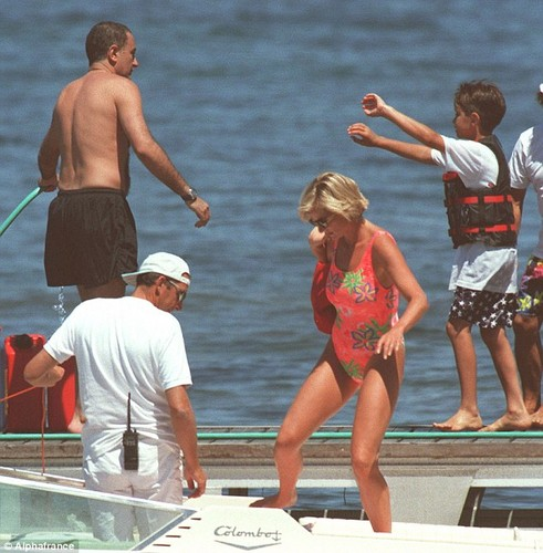 Dodi and Diana on holiday, April, 1997