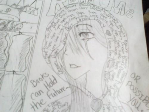 Dream Diary karatasi la kupamba ukuta called Drawing~!