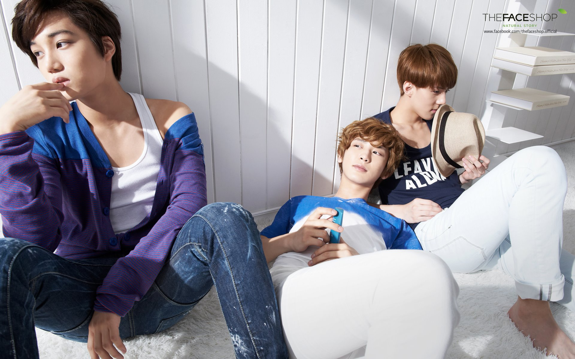 Kpop EXO-K for The Face Shop