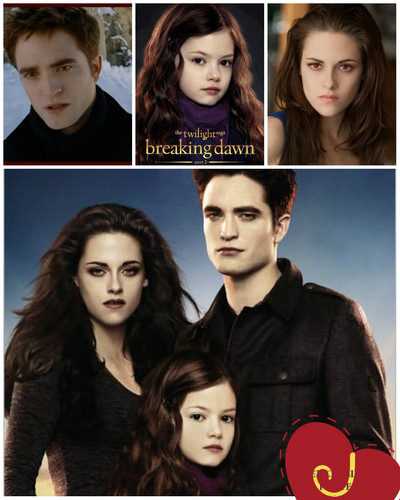 Edward, Renesmee and Bella