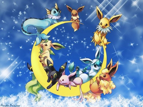 Eevee Evolutions Clan fondo de pantalla probably with anime entitled Eevee Evolutions