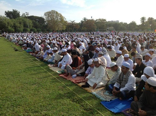 MUSLIMS 壁紙 probably with a red cabbage called Eid prayers from all over the world