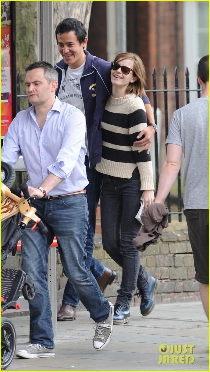 Emma and boyfriend Will Adamowicz in London