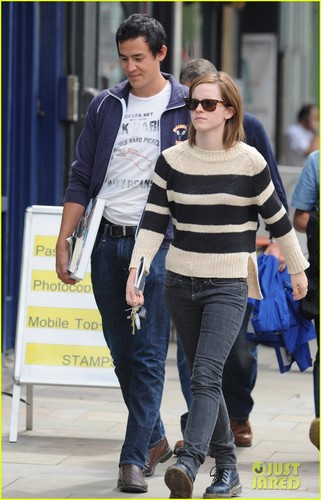 Emma and boyfriend Will Adamowicz in London