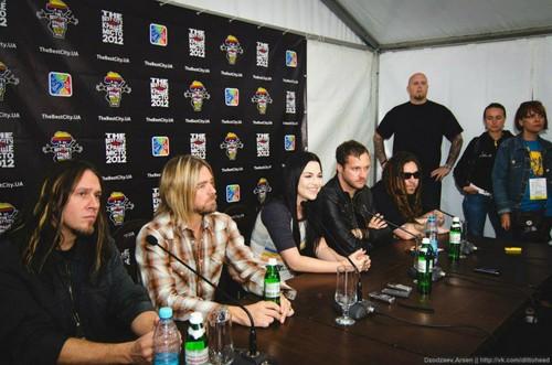 Evanescence - Press Conference in Dnepropetrovsk, Ukraine (June 29th, 2012)