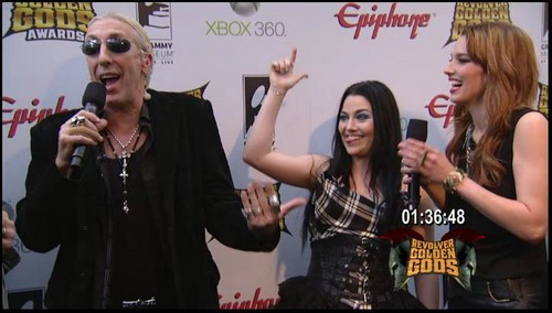 Evanescence at Revolver Golden Gods Awards - Black Carpet & Backstage (2012)