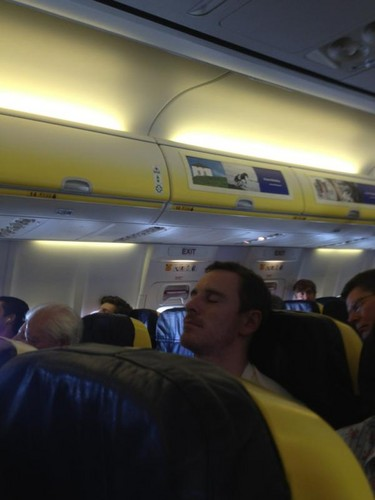 Michael Fassbender wallpaper probably with a subway train entitled Fasst Asleep on Ryanair on his way to Spain