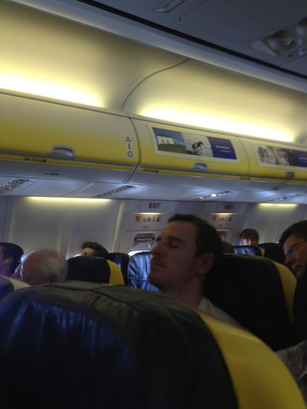 Fasst Asleep on Ryanair on his way to Spain