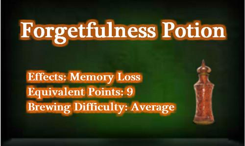 Forgetfulness Potion