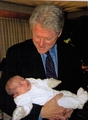 Good Friend, Bill Clinton, Getting Acquainted With Michael's Youngest Son, Michael II (Blanket) - michael-jackson photo