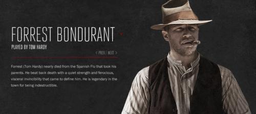 Forrest Bondurant Character thông tin các nhân