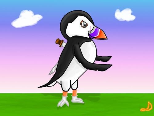 Gabriel the puffin, burung bayan laut