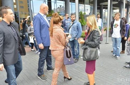 Gaga leaving her hotel in Tallin