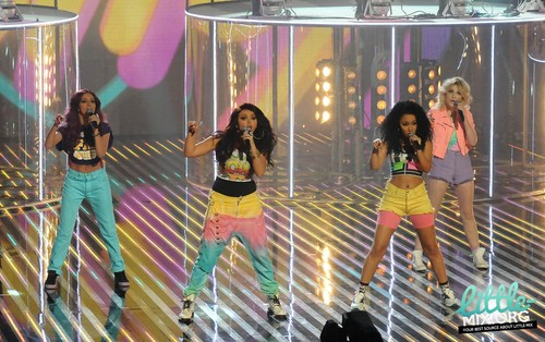 """HQ pics - Little Mix performing on ITV's """"Red or Black"""" - 25th August 2012."""