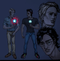 Harry&amp;Draco as Tony &amp;Steve - harry-and-draco fan art