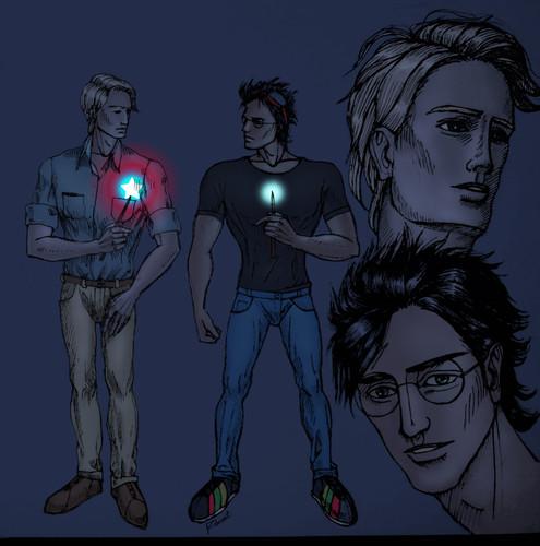 Harry&Draco as Tony &Steve