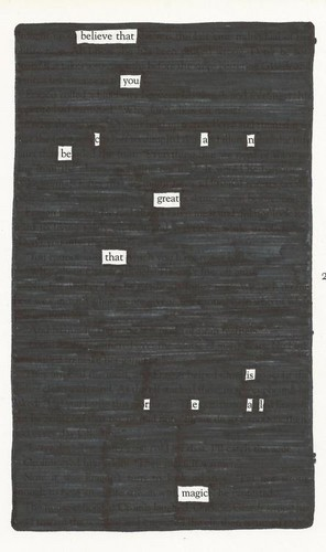 Harry Potter blackout poem