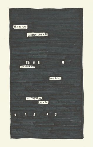 Harry Potter Vs. Twilight wallpaper titled Harry Potter blackout poem