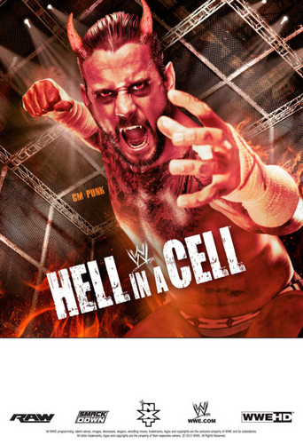 Hell in a Cell poster featuring CM Punk