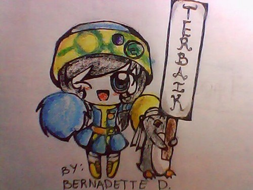Here is my 粉丝 Art of 《K.O.小拳王》 Ying and Popo Cheer Leading!!!! pls. like it...