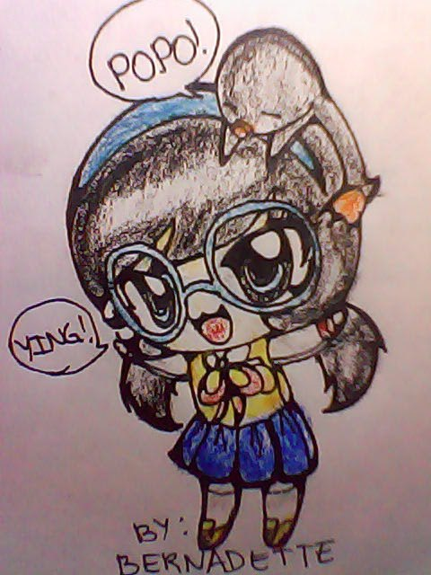 Here is my Fan Art of Chibi Ying with Popo on top..... pls.like it...