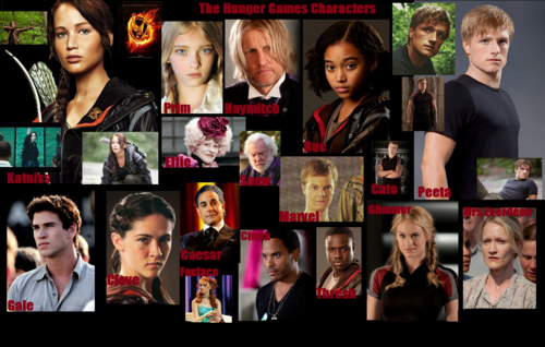 The Hunger Games wallpaper possibly with anime called Hunger Games Characters
