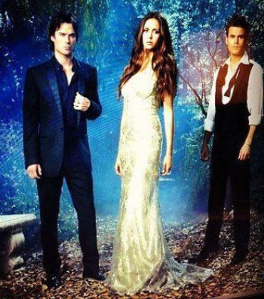 Damon Salvatore wallpaper possibly with a bridesmaid titled Image from TVD S4 promotional photoshoot