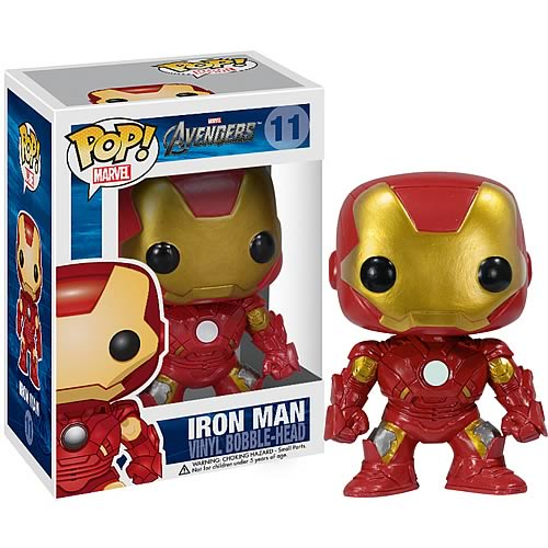 Iron Man collectable pop figure in display box!