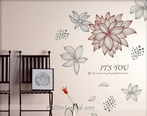 It's You You Let Me Knew It's Quite Painful To Be Alone Wall Stickers