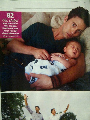 Jackson Rathbone wallpaper containing a neonate called Jackson Rathbone and his son