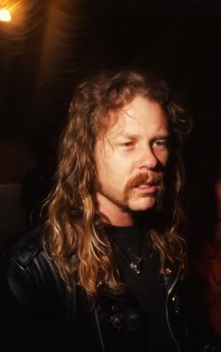 James Hetfield fond d'écran with a portrait titled James Hetfield