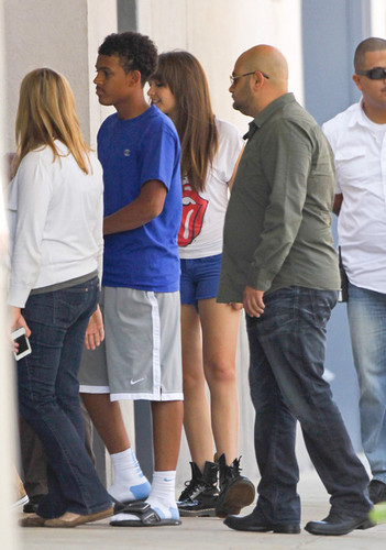 James and his cousin Paris Jackson at Six Flags in illinoise NEW August 28th 2012