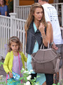 Jessica Alba Takes Her Girls to Brunch [August 24, 2012] - jessica-alba photo