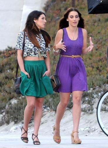 "Jessica strolling down the pantai on the set of ""90210"" in Manhattan pantai"