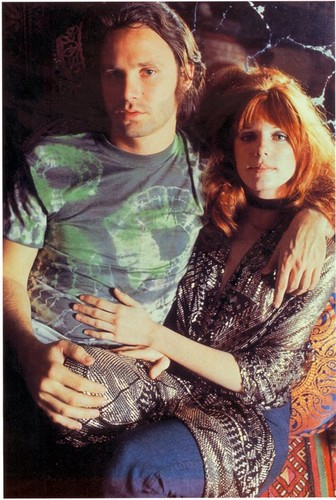 música fondo de pantalla possibly containing a portrait called Jim Morrison and Pamela Courson